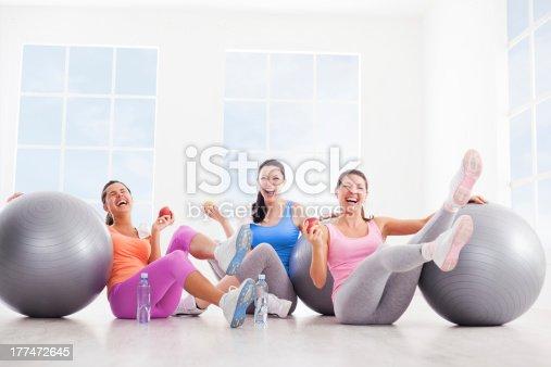 Beautiful young women having fun after a long workout!