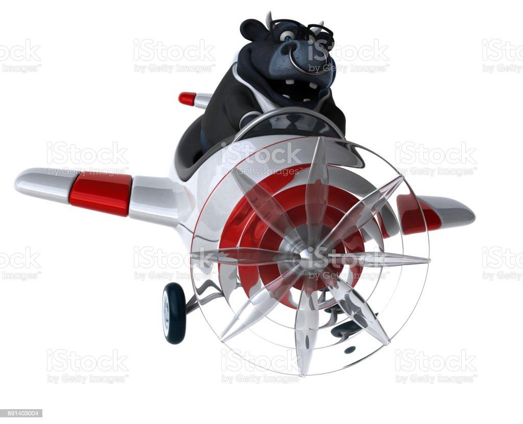 Fun bull - 3D Illustration stock photo