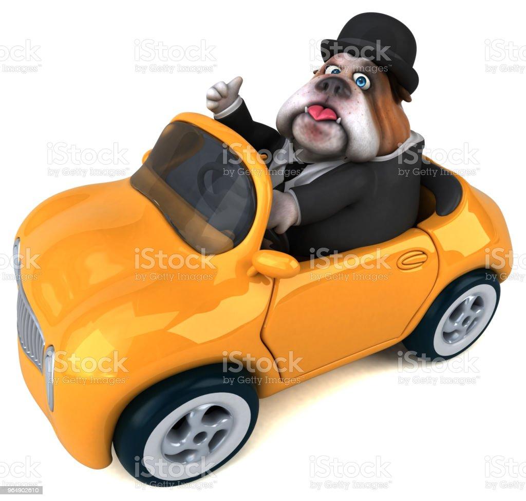 Fun bulldog - 3D Illustration royalty-free stock photo