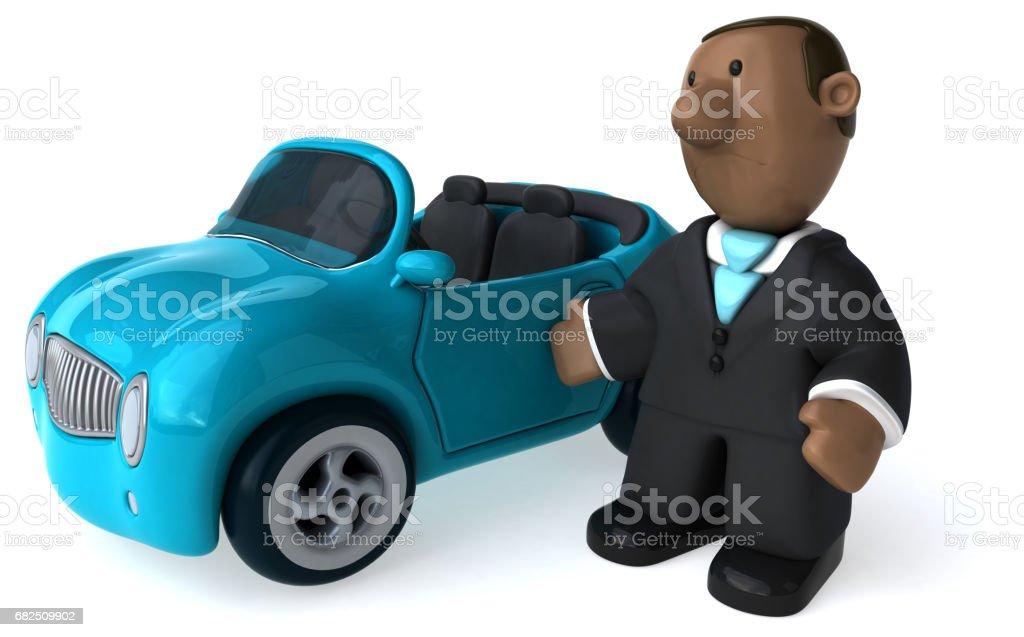 Eğlenceli iş adamı - 3D çizim royalty-free stock photo