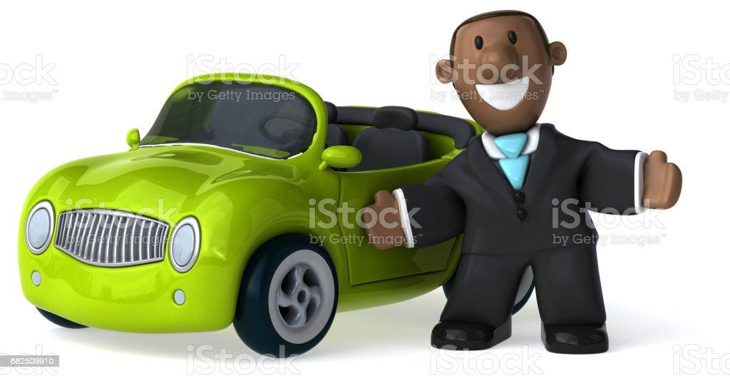 Fun business man - 3D Illustration royalty-free stock photo