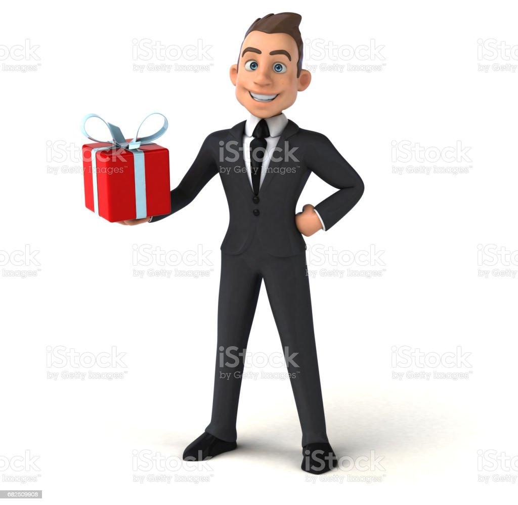 Fun businessman foto de stock libre de derechos