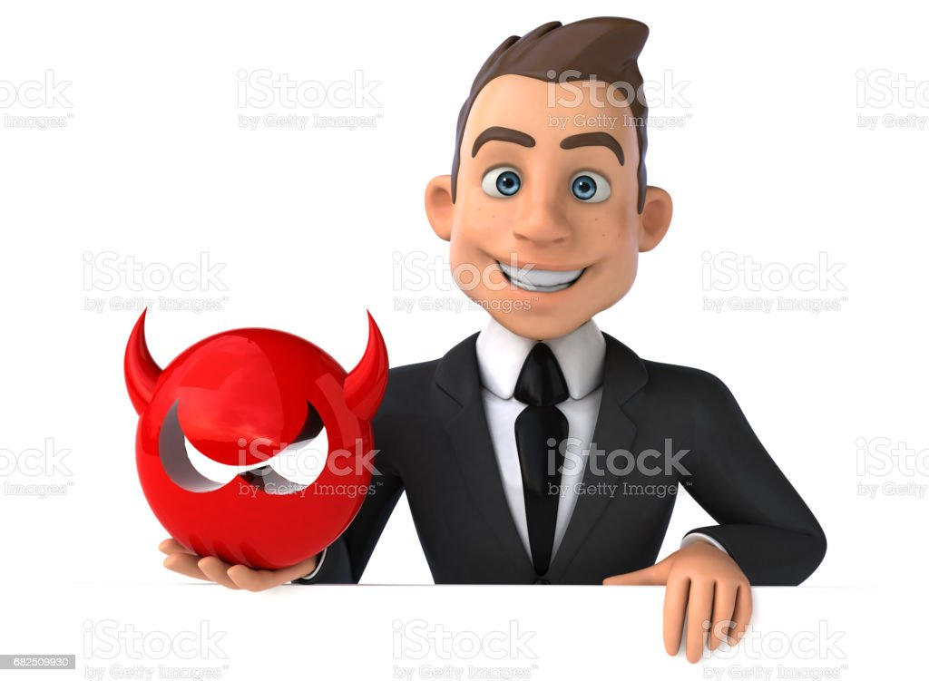 Fun businessman royalty-free stock photo