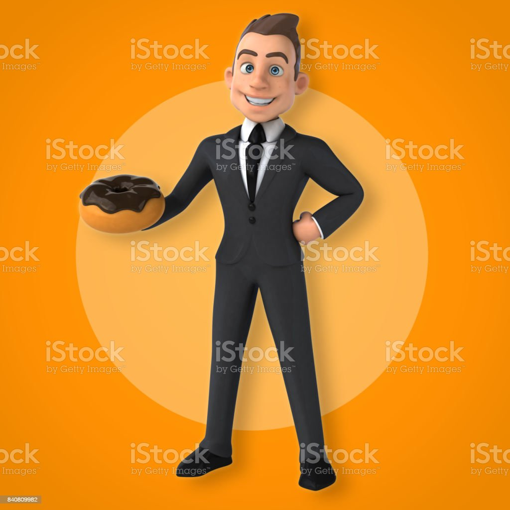 Fun businessman stock photo