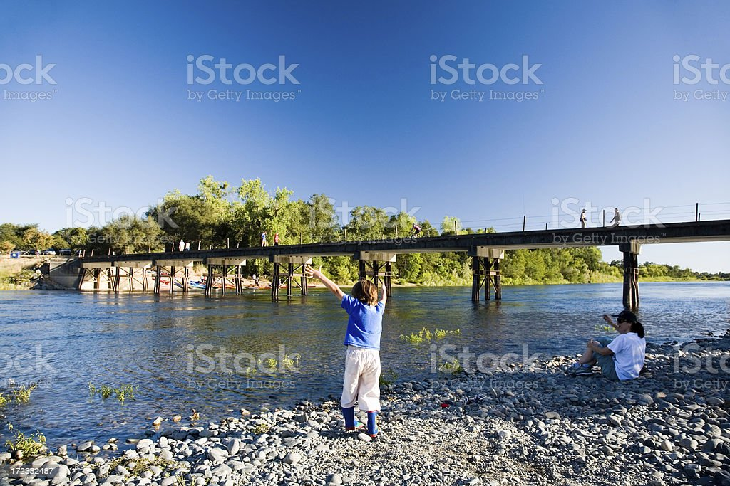 Fun by the river royalty-free stock photo