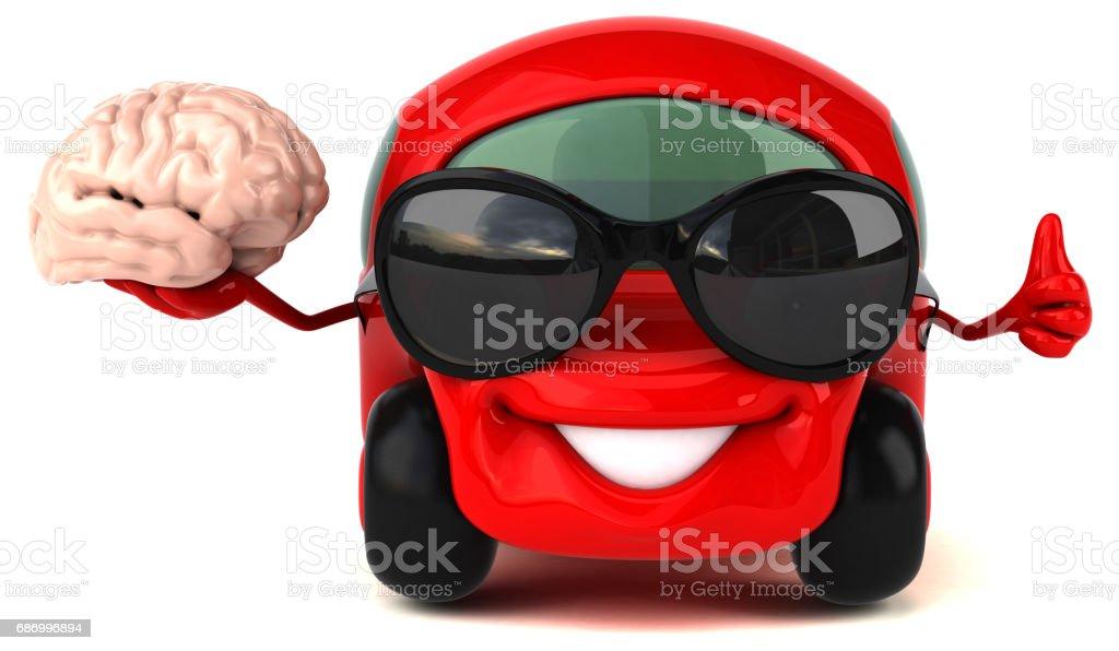 Lustige Auto - 3D Illustration Lizenzfreies stock-foto
