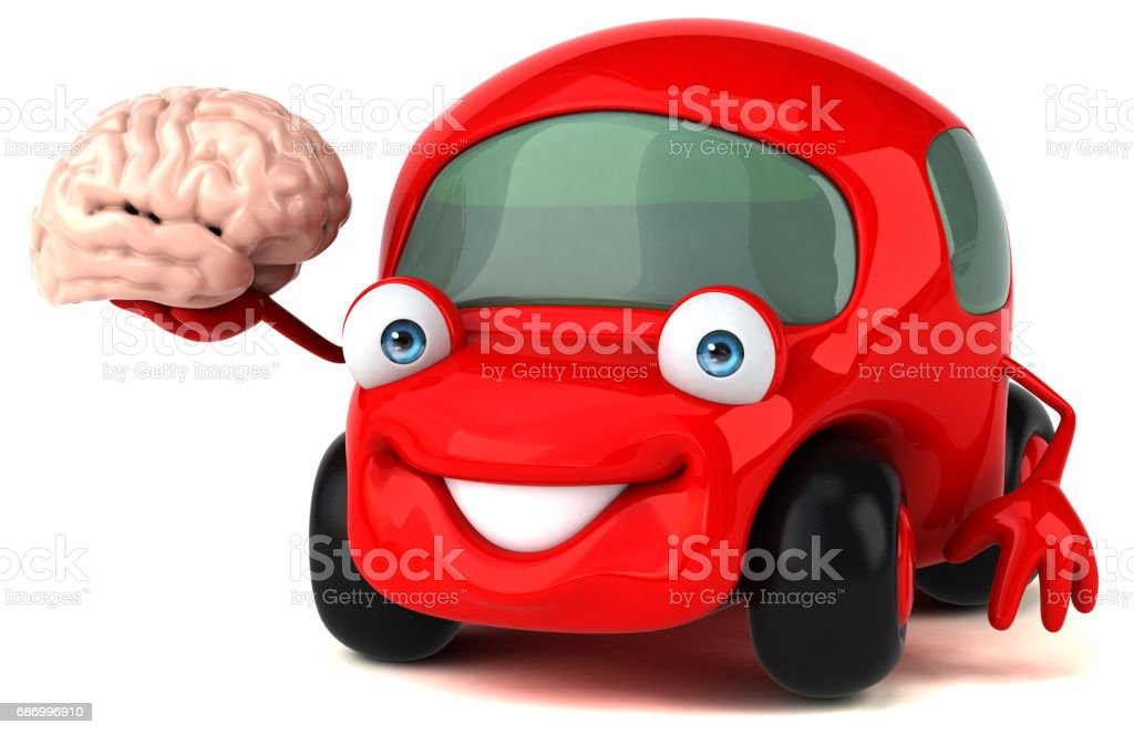 Fun car - 3D Illustration Lizenzfreies stock-foto