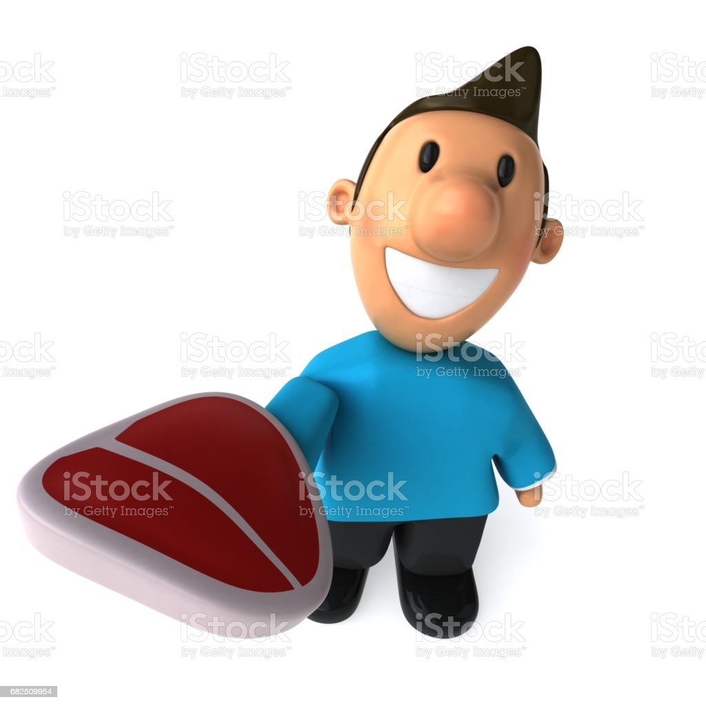 Fun casual man - 3D Illustration royalty-free stock photo