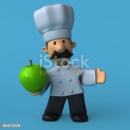istock Fun chef - 3D Illustration 834613028