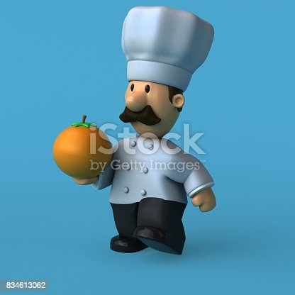 istock Fun chef - 3D Illustration 834613062