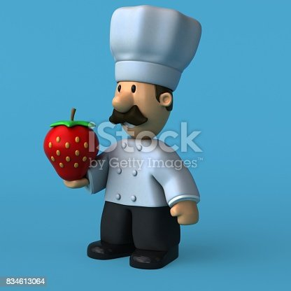 istock Fun chef - 3D Illustration 834613064