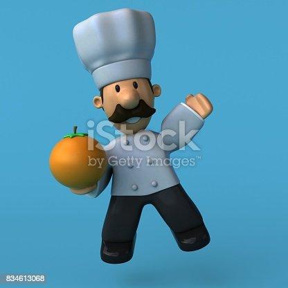 istock Fun chef - 3D Illustration 834613068