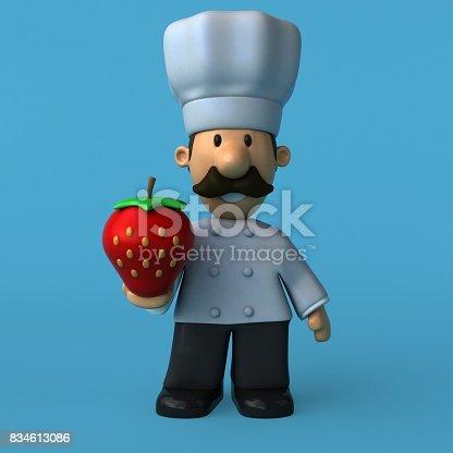 istock Fun chef - 3D Illustration 834613086