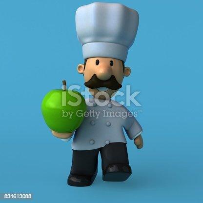 istock Fun chef - 3D Illustration 834613088