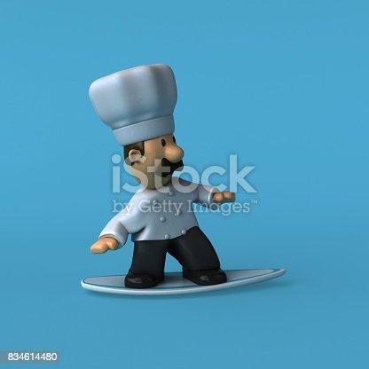 istock Fun chef - 3D Illustration 834614480