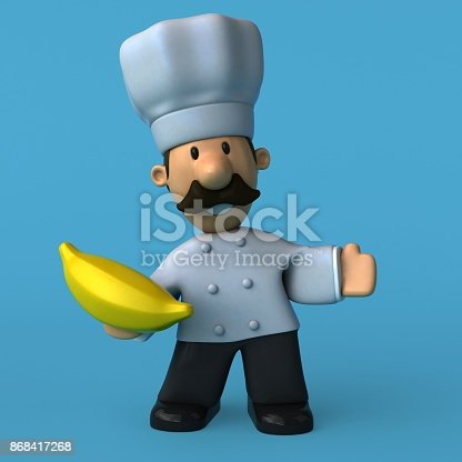 istock Fun chef - 3D Illustration 868417268