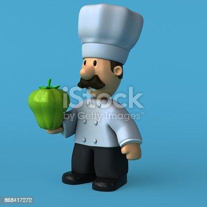 istock Fun chef - 3D Illustration 868417272