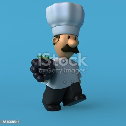 istock Fun chef - 3D Illustration 881008544