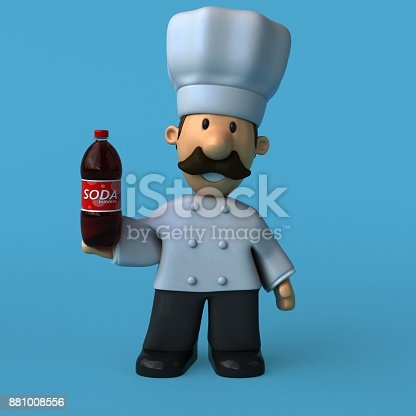 istock Fun chef - 3D Illustration 881008556