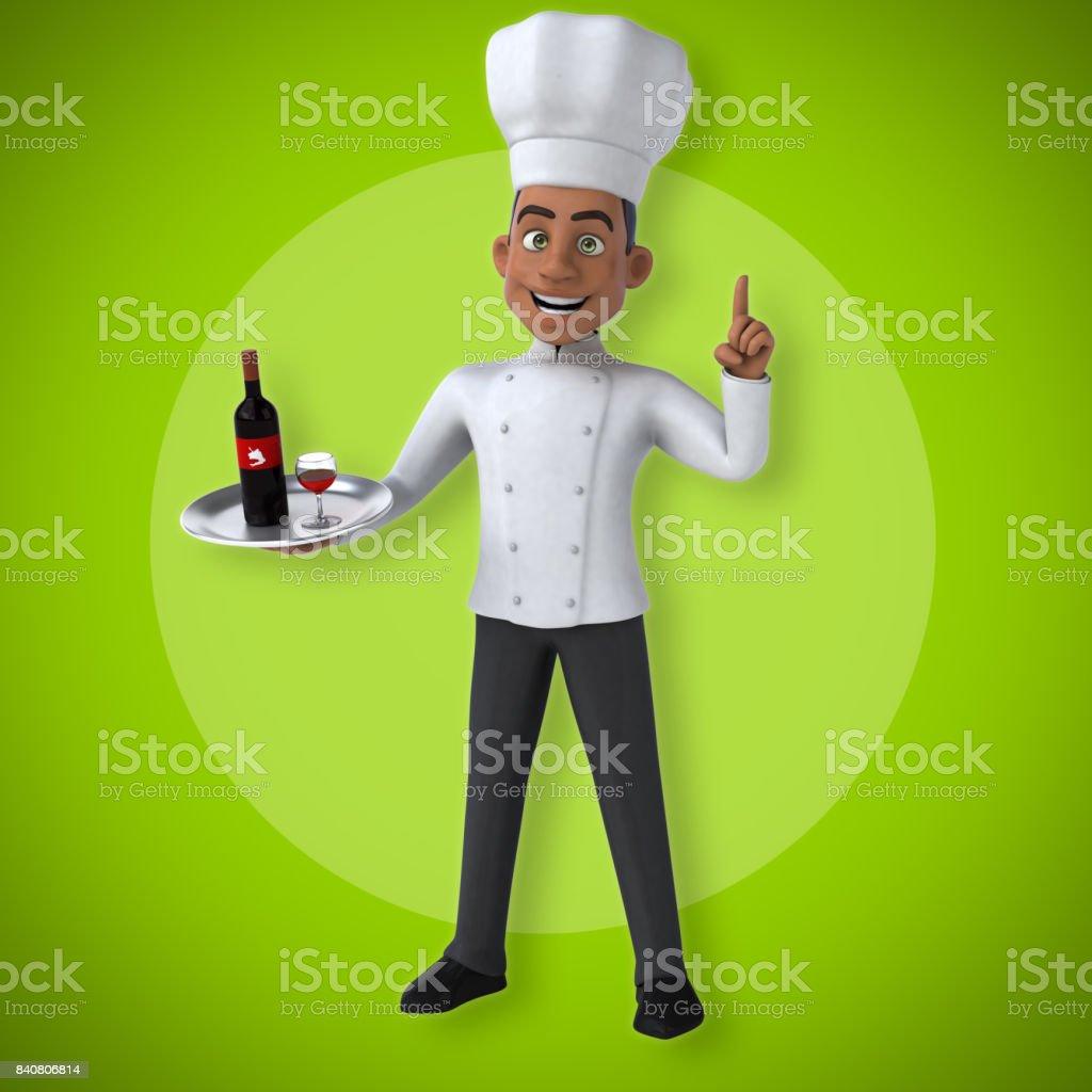 Fun chef stock photo
