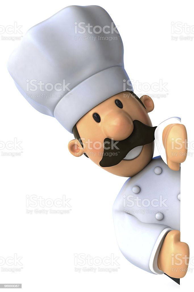 Fun chef with a blank sign royalty-free stock photo