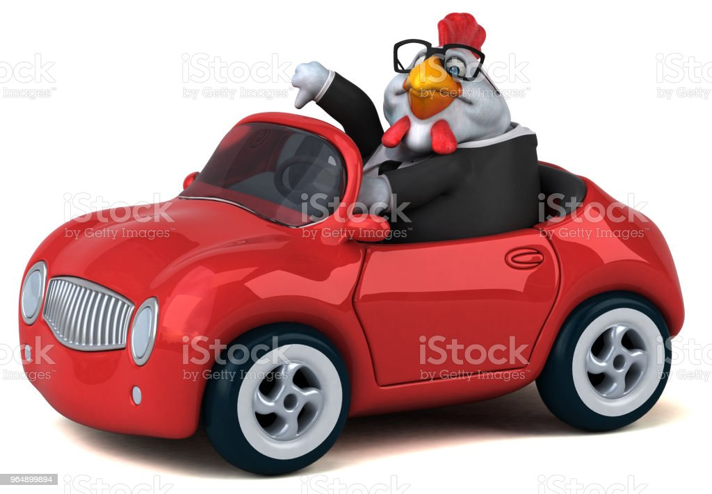 Fun chicken - 3D Illustration royalty-free stock photo