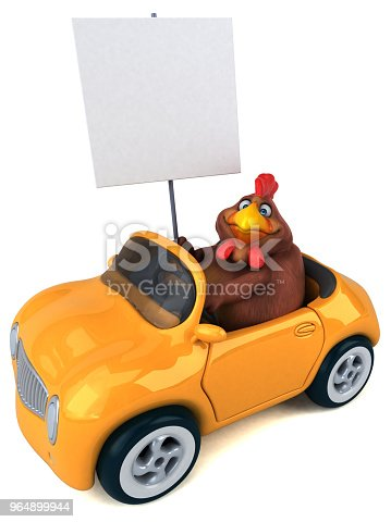Fun Chicken 3d Illustration Stock Photo & More Pictures of Animal