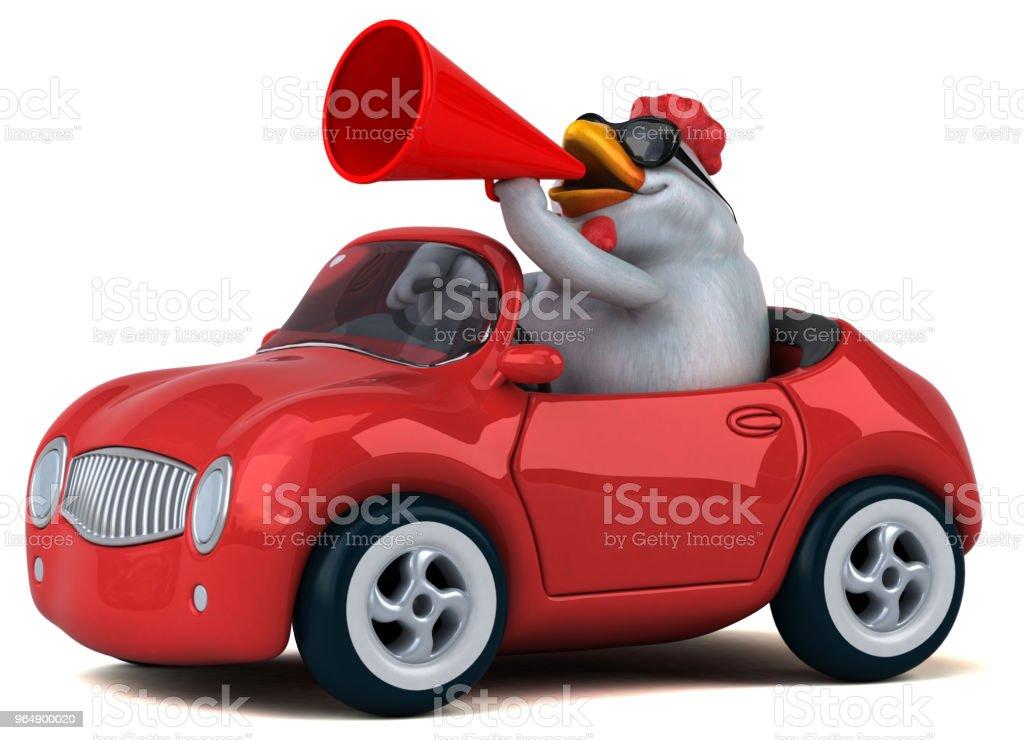 有趣的雞-3D 圖 - 免版稅公雞圖庫照片