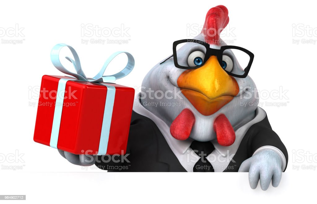 Fun chicken - 3D Illustration royalty-free stock photo