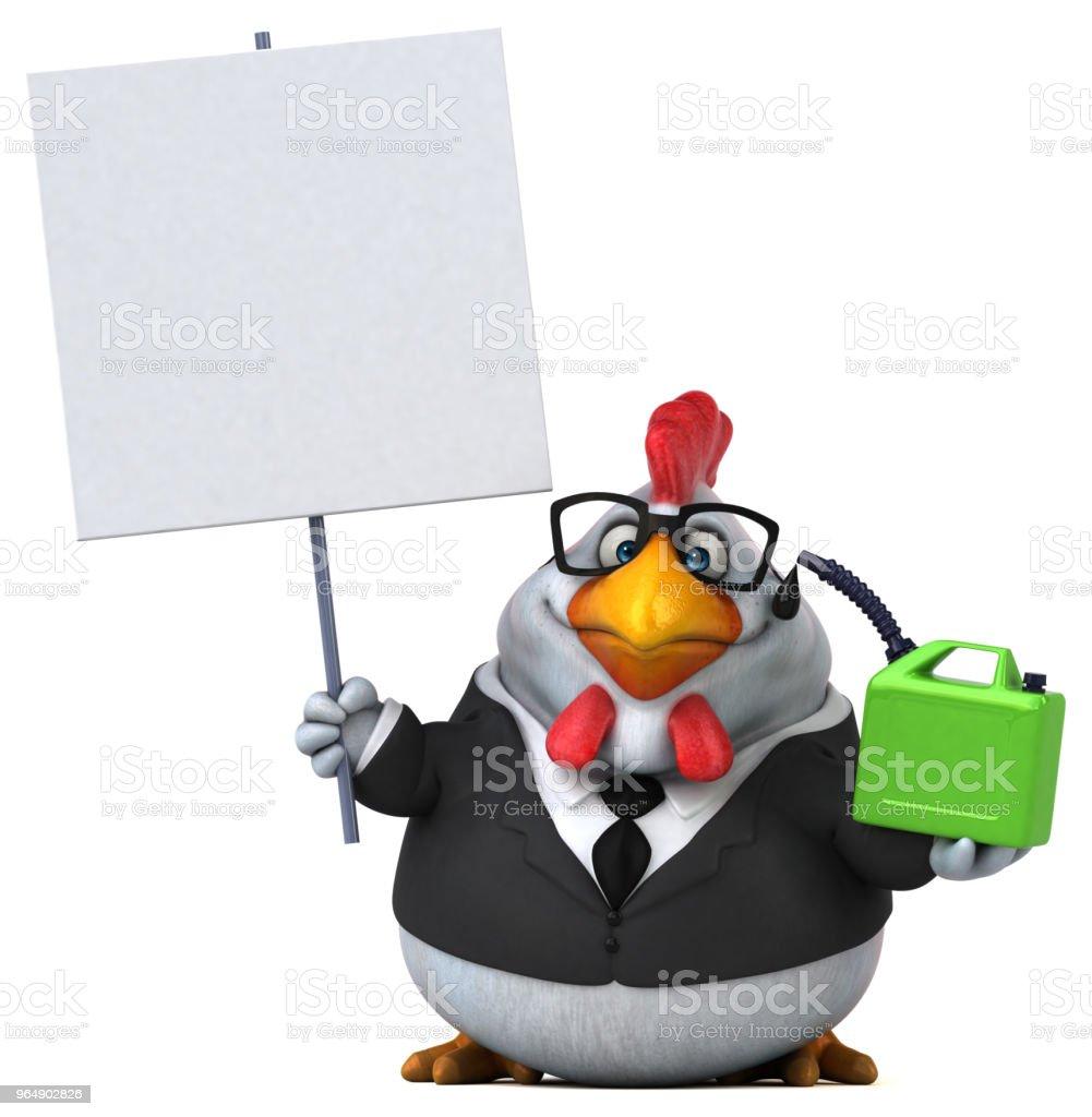 有趣的雞-3D 圖 - 免版稅企業圖庫照片