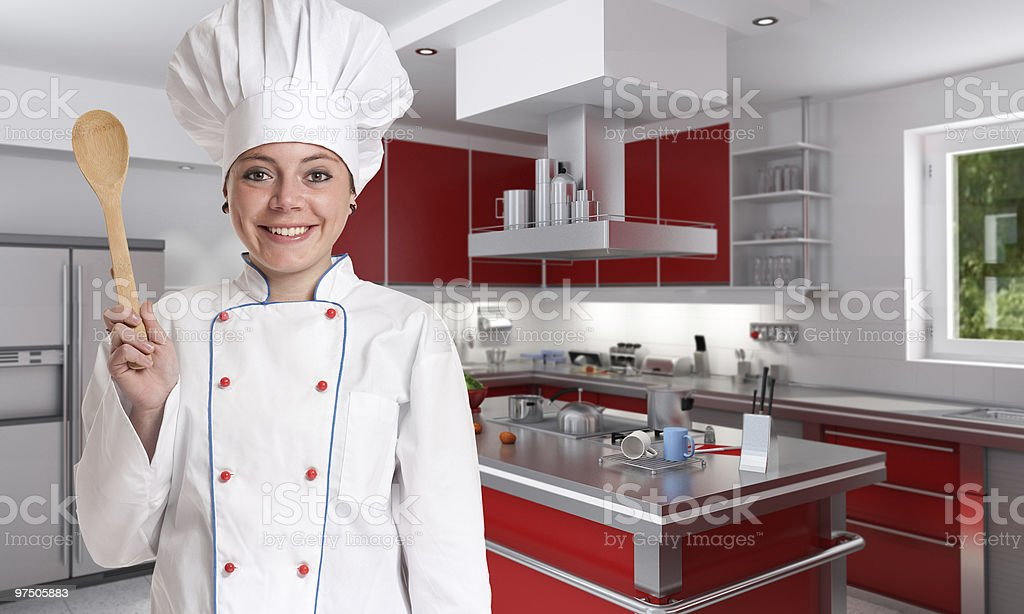 Fun cooking royalty-free stock photo