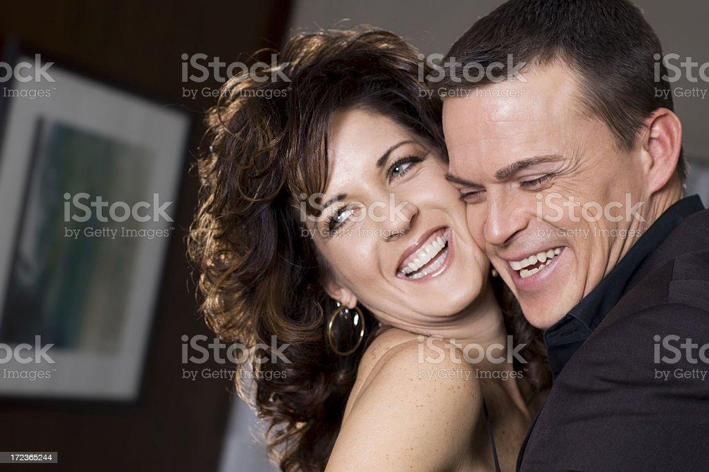 fun couple stock photo