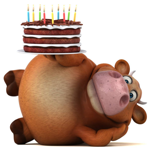 Super Cow Birthday Cake Stock Photos Pictures Royalty Free Images Birthday Cards Printable Riciscafe Filternl