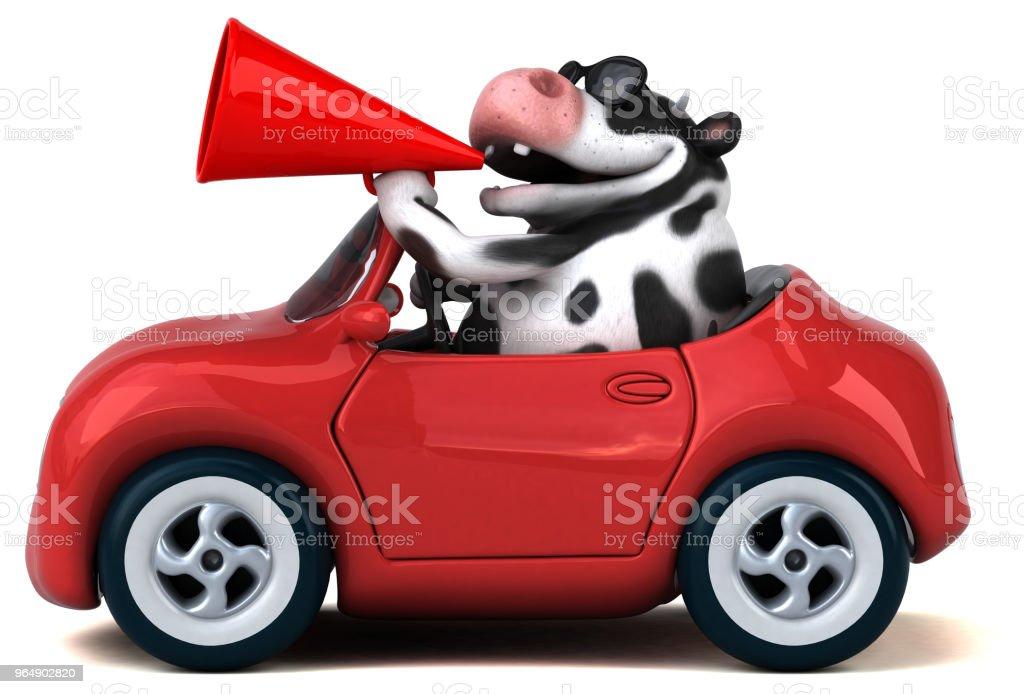 Fun cow - 3D Illustration royalty-free stock photo