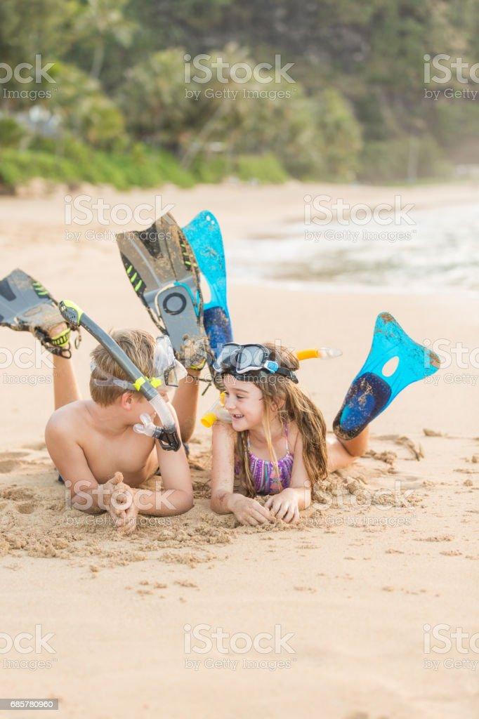 在海灘的同樂 ! 免版稅 stock photo