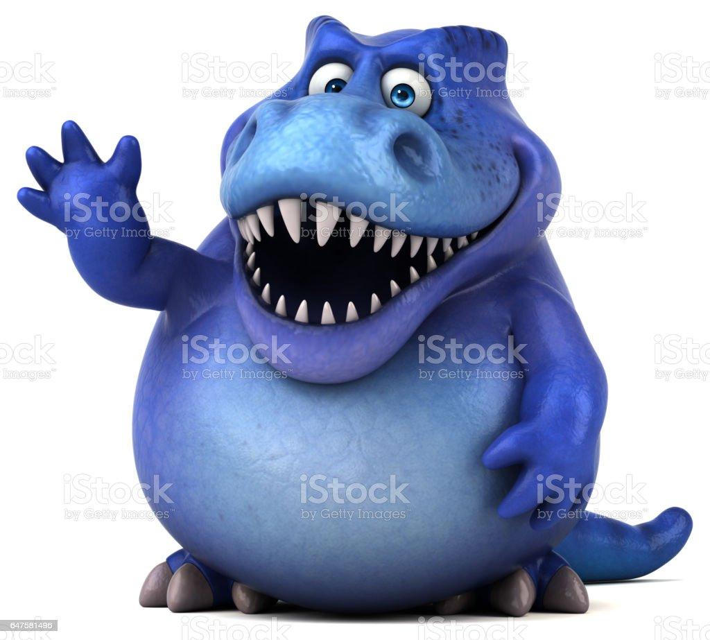 Fun dinosaur - 3D Illustration stock photo