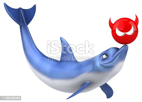 istock Fun dolphin - 3D Illustration 1135290484