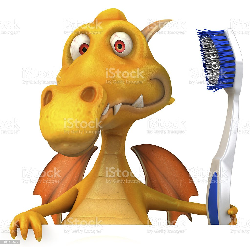 Fun dragon royalty-free stock photo