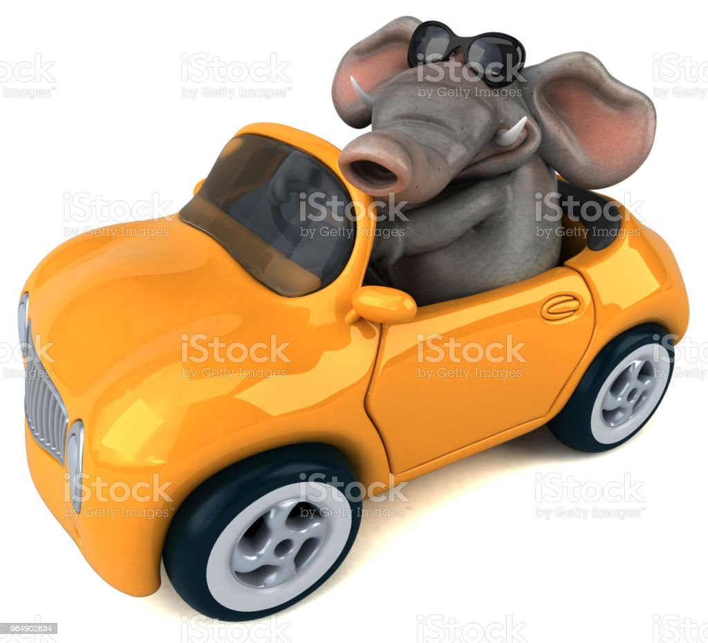 Fun elephant - 3D Illustration royalty-free stock photo