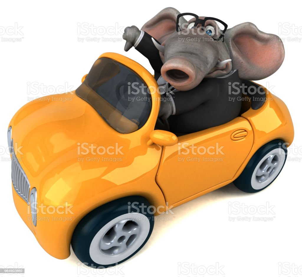Fun elephant - 3D Illustration royalty-free stock photo