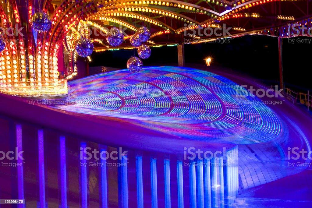 Fun fair at night stock photo