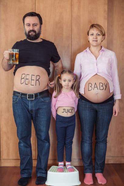 Diversión familiares vientres - foto de stock
