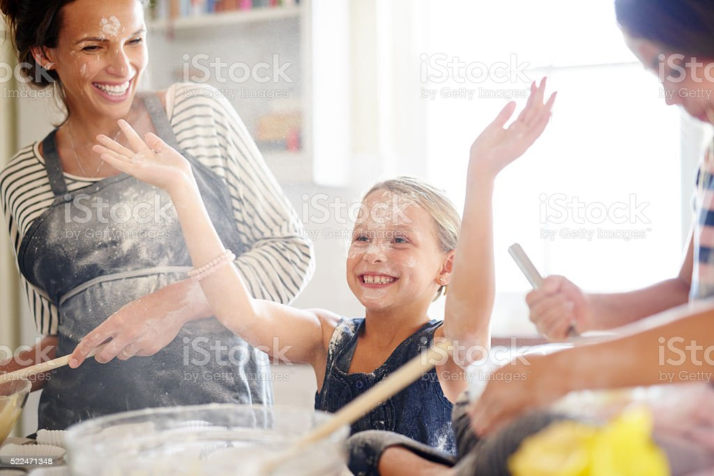 Fun for the whole family stock photo