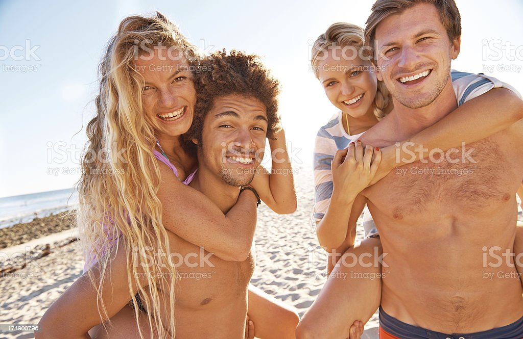 Foursome in vacations