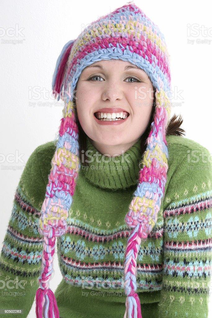 Fun Fresh Winter Teen royalty-free stock photo
