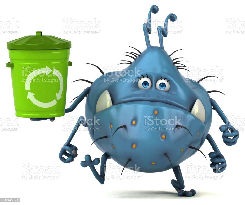 Fun germ - 3D Illustration royalty-free stock photo