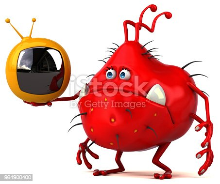 Fun Germ 3d Illustration Stock Photo & More Pictures of AIDS
