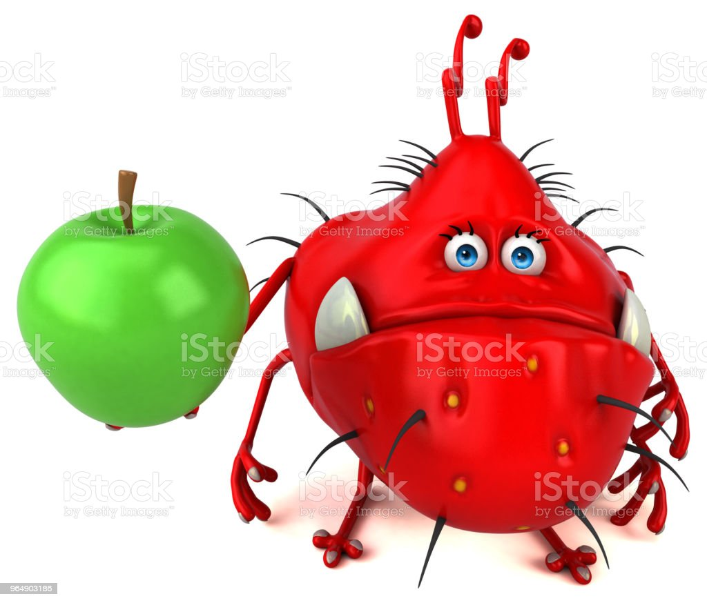 Fun germ - 3D Illustration royalty-free stock photo