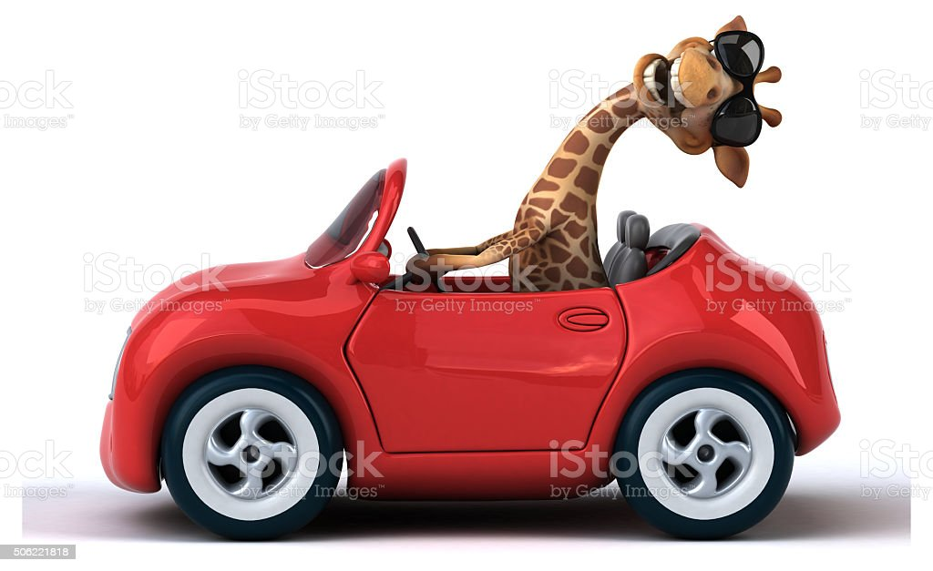 Fun giraffe stock photo
