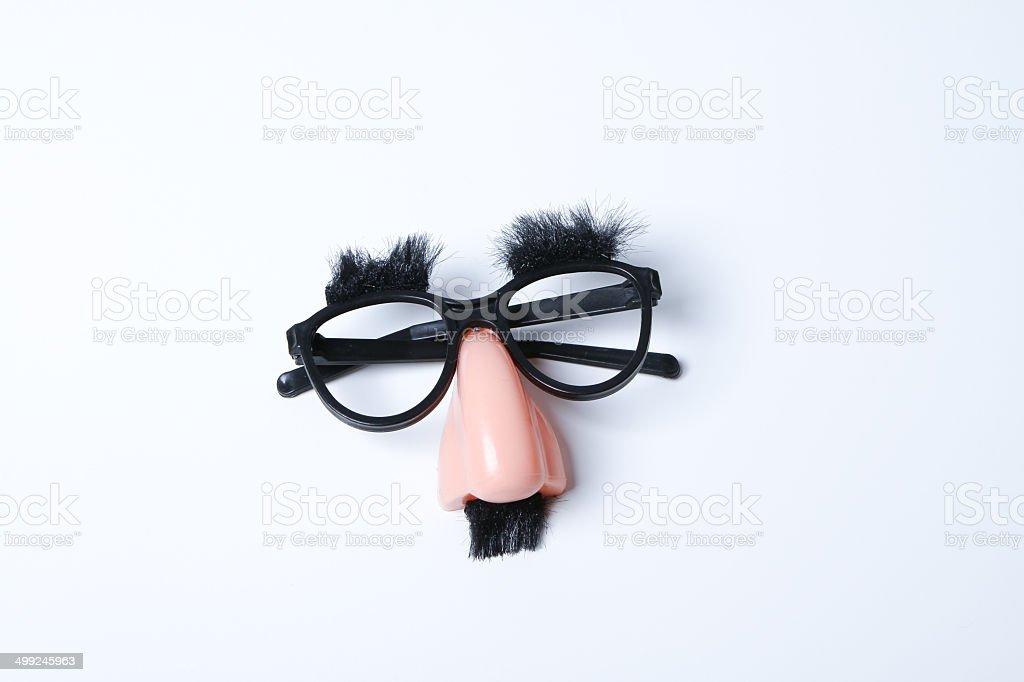 Lustige Brille mit eine Nase für eine photo booth – Foto